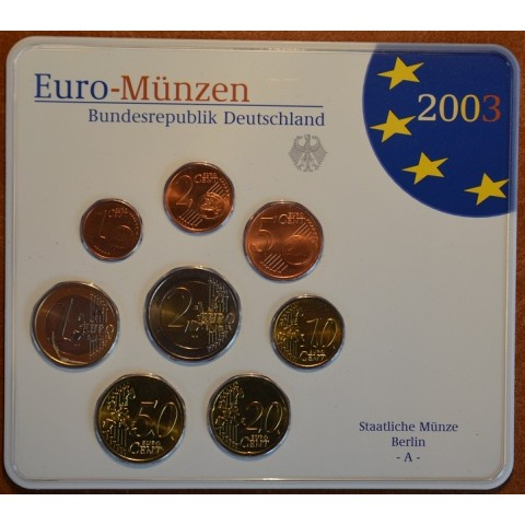 Set of 8 eurocoins Germany 2003 (BU)