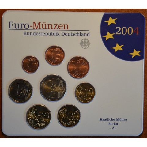 Set of 8 eurocoins Germany 2004 (BU)