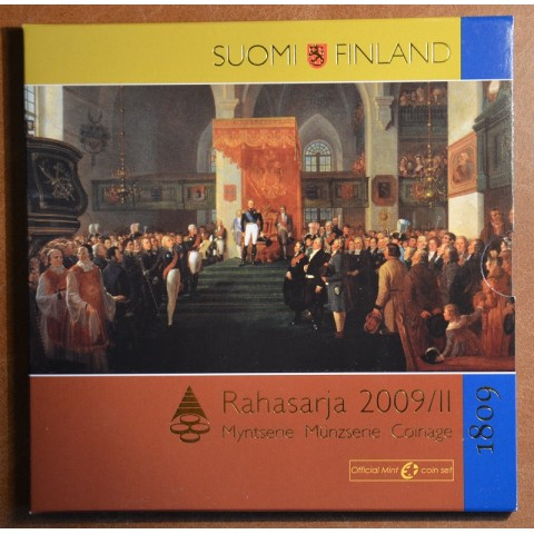 Set of 9 eurocoins Finland 2009 II. (BU)