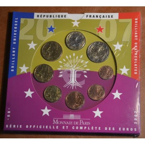 Set of 8 eurocoins France 2007 (BU)