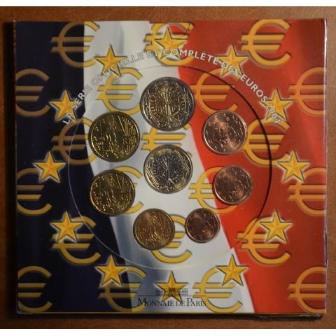 Set of 8 eurocoins France 2004 (BU)