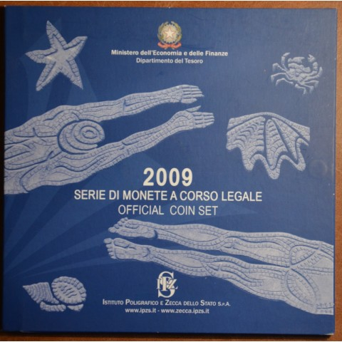 Italy 2009 offcial set with 2 Euro and 5 Euro coins (BU)