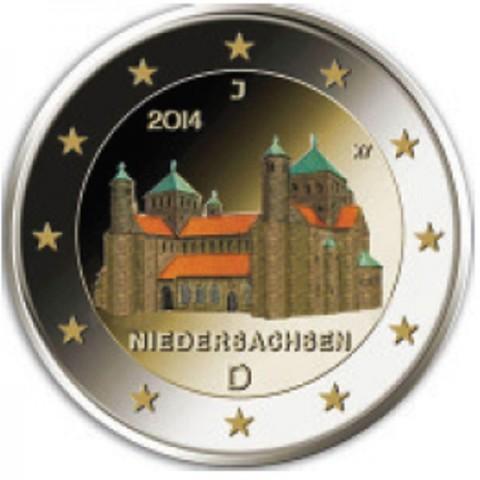"2 Euro Germany ""J"" 2014 - St. Michael church - Niedersachsen (colored UNC)"