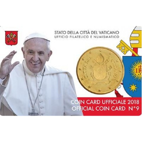 50 cent Vatican 2018 official coin card No. 9 (BU)