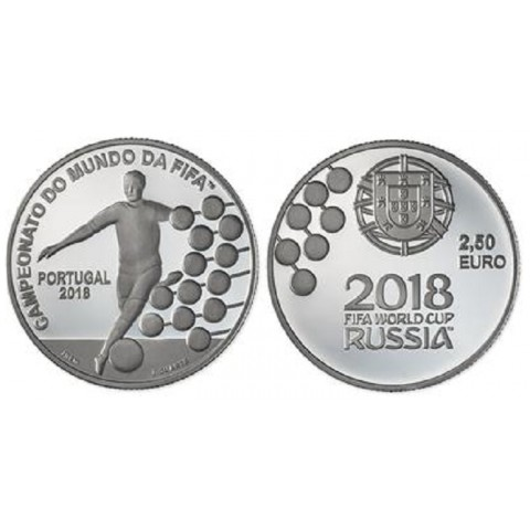 2,5 Euro Portugal 2018 - FIFA 2018 (UNC)