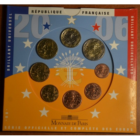 Set of 8 eurocoins France 2006 (BU)