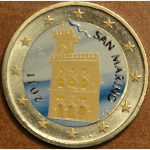 2 Euro San Marino 2011 - Government House (colored UNC)