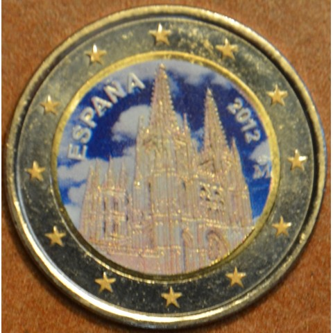 2 Euro Spain 2012 - The Burgos Cathedral III. (colored UNC)
