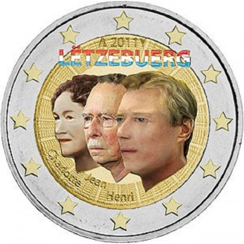 2 Euro Luxembourg 2011 - 50th anniversary of the appointment by the Grand-Duchess Charlotte of her son Jean (UNC)