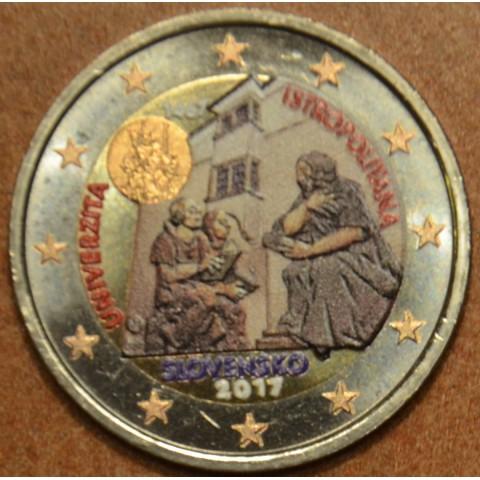 2 Euro Slovakia 2017 - Univerzita Istropolitana VI. (colored UNC)
