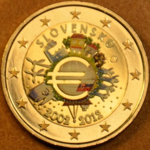 2 Euro Slovakia 2012 - Ten years of Euro  (colored UNC)