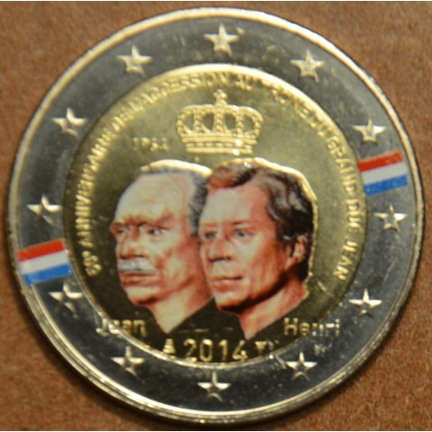 2 Euro Luxembourg 2014 - Grand Duke Jean Accession to the Throne III. (colored UNC)