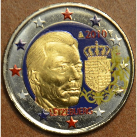 2 Euro Luxembourg 2010 - Coat of arms of the Grand Duke III. (colored UNC)