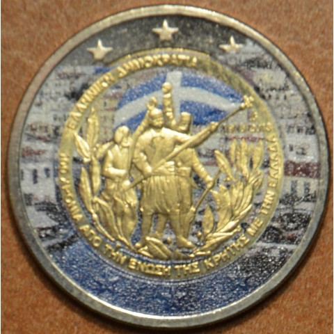 2 Euro Greece 2013 - 100th Anniversary of the union of Crete with Greece IV. (colored UNC)