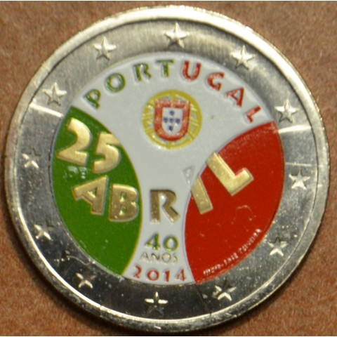 2 Euro Portugal 2014 - Carnation Revolution III. (UNC colored)