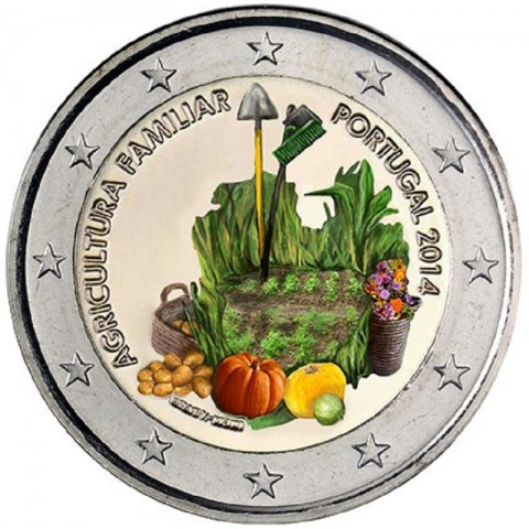 2 Euro Portugal 2014 - Family farming II. (colored UNC)