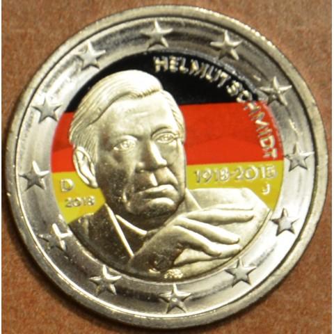 """2 Euro Germany """"A"""" 2018 - Helmut Schmidt II. (colored UNC)"""