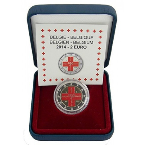 2 Euro Belgium 2014 - 150th Anniversary of the Belgian Red Cross IV. (colored Proof)