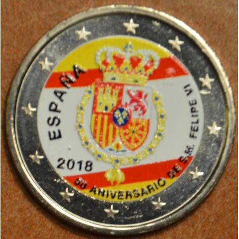 2 Euro Spain 2018 - Felipe VI. (colored UNC)