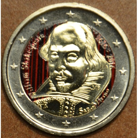 2 Euro San Marino 2016 - 400th anniversary of the death of William Shakespeare II. (colored UNC)