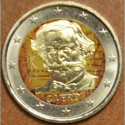 2 Euro Italy 2013 - 200th Anniversary of the Birth of Giuseppe Verdi IV. (colored UNC)