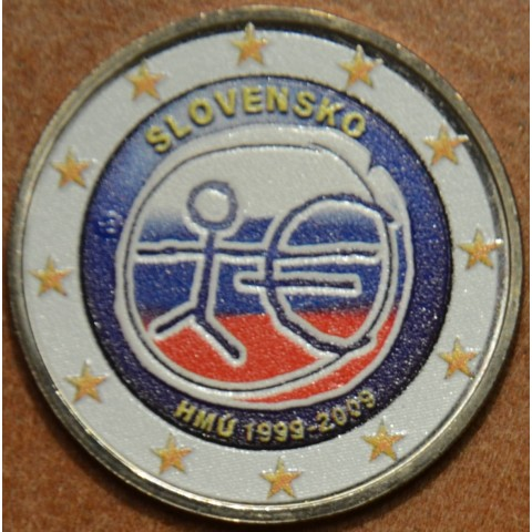 2 Euro Slovakia 2009 - 10th Anniversary of the Introduction of the Euro III. (colored UNC)