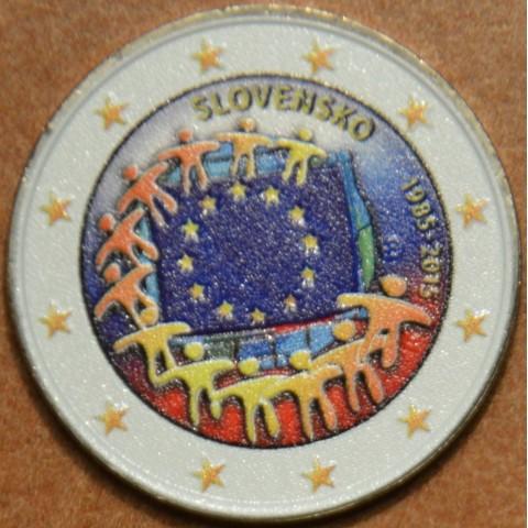 2 Euro Slovakia 2015 - 30 years of European flag VI. (colored UNC)