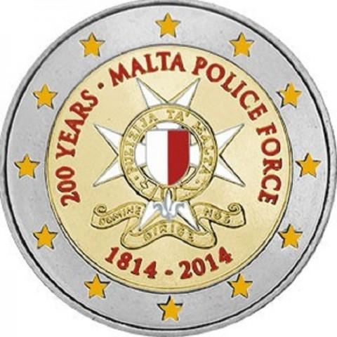 2 Euro Malta - 200 years Malta Police Force (UNC)