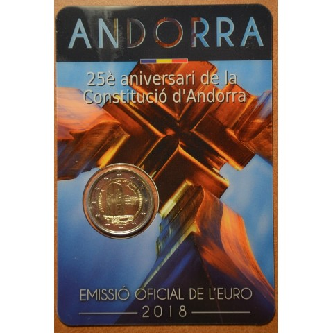 2 Euro Andorra 2018 - 25th anniversary of the Andorran Constitution (BU card)