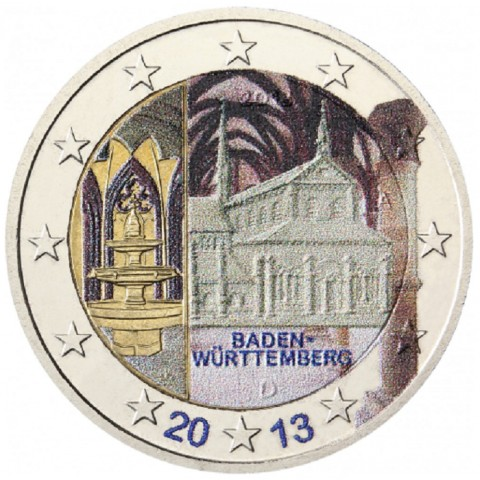 2 Euro Germany 2013 - Baden-Württemberg: Kloster Maulbronn II. (colored UNC)