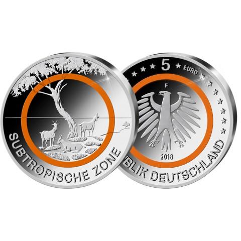 5 Euro Germany 2018 Subtropical Zone (UNC)