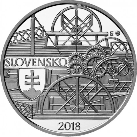 10 Euro Slovakia 2018 - 200th anniversary of the first time a steamer sailed on the Danube River in Bratislava (BU)