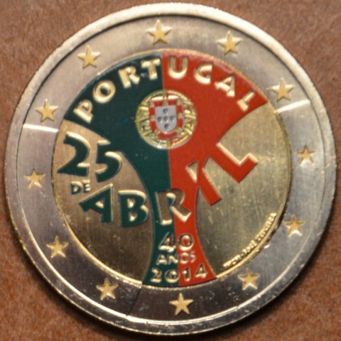 2 Euro Portugal 2014 - Carnation Revolution (UNC colored)