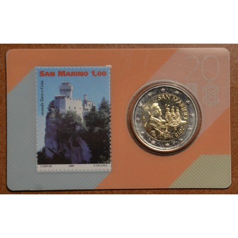2 Euro San Marino 2018 - Saint Marinus (BU card with stamp)