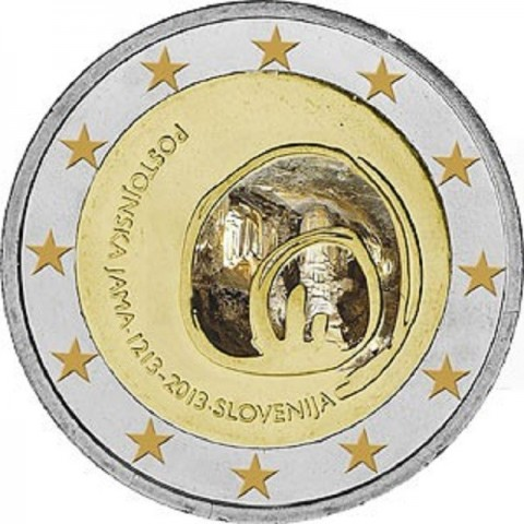 2 Euro Slovenia 2013 - 800th Anniversary of the First Visit of the Postojna Cave (UNC)