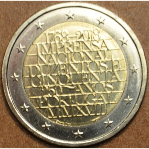 Damaged 2 Euro Portugal 2018 - 250 years of mint INCM (UNC)