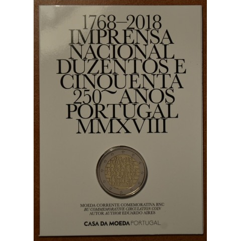 2 Euro Portugal 2018 - 250 years of mint INCM (BU)