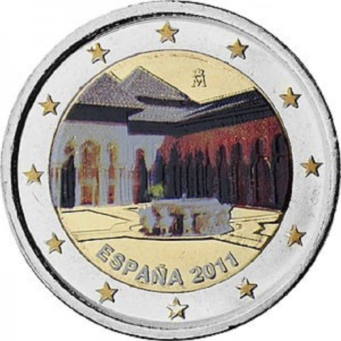 2 Euro Spain 2011 - UNESCO: Alhambra in Granada  (UNC)