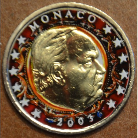 2 Euro Monaco 2003 Rainier (colored UNC)