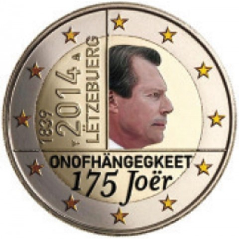 2 Euro Luxembourg 2014 - 175 years of independence (colored UNC)