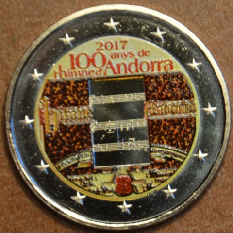 2 Euro Andorra 2017 - 100 years of the anthem (colored UNC)