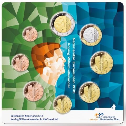 Set of 8 coins Netherlands 2015 (UNC)