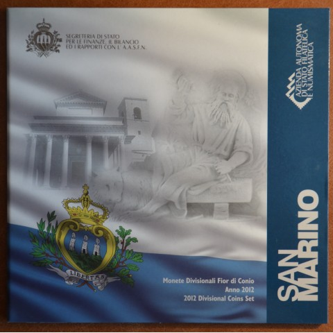 Official 8 coins set of San Marino 2012 (BU)