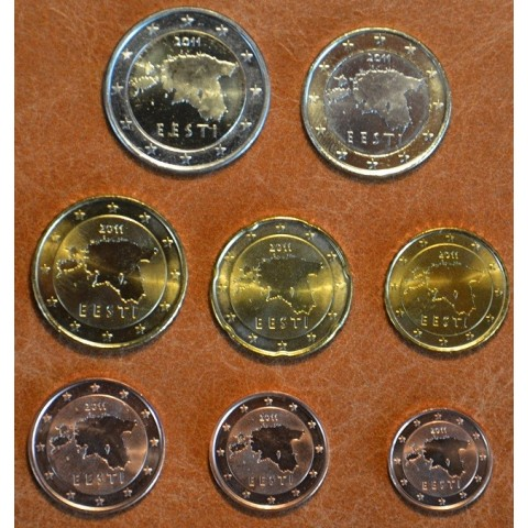 Set of 8 eurocoins Estonia 2011 (UNC)