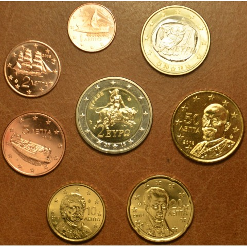 Set of 8 eurocoins Greece 2018 (UNC)