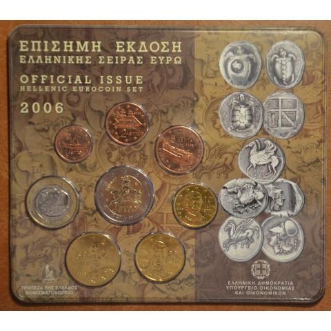 Set of 8 eurocoins Greece 2006 (BU)