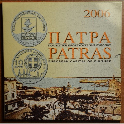 Greece 2006 set of coins with 10 Euro coin (BU)