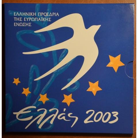 Set of 9 eurocoins Greece 2003 with 10 Euro coin (UNC)