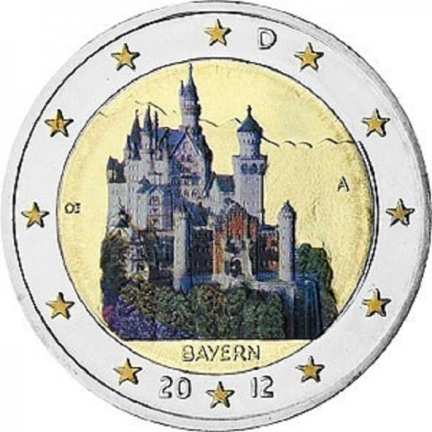 "2 Euro Germany ""A"" 2012 - Bayern: Neuschwanstein (colored UNC)"