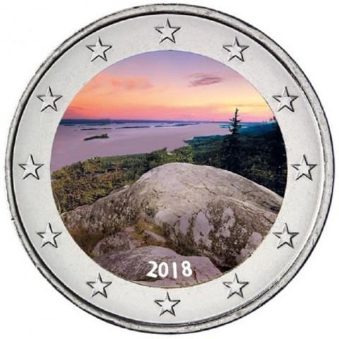 2 Euro Finland 2018 - National park Koli (colored UNC)
